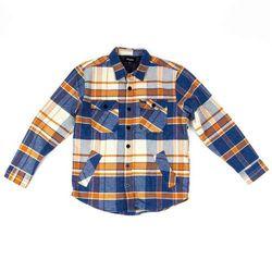 koszula BRIXTON - Durham L/S Flannel Blue/Orange (BLORG) rozmiar: M
