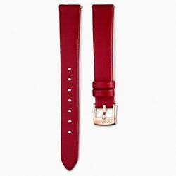 Pasek do zegarka 14 mm, skóra, czerwony, powłoka PVD w odcieniu różowego złota