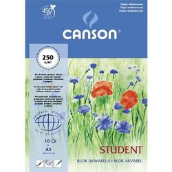 Blok akwarela A4 Canson papier fakturowany 10 kartek Student