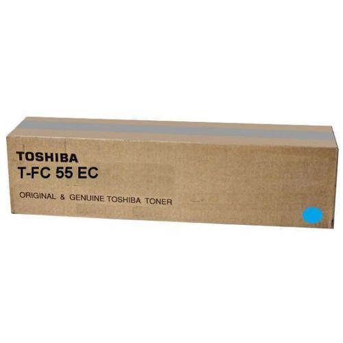 Akcesoria do faksów, Toshiba toner Cyan T-FC55E-C, TFC55EC, 6AK00000114, 6AG00002318