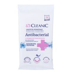 Cleanic Antibacterial Refreshing Wet Wipes antybakteryjne kosmetyki 24 szt unisex