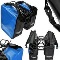 Sakwy, torby i plecaki rowerowe, CO1009.60.05 Sakwy rowerowe Crosso DRY BIG 60l Niebieskie zestaw na tył
