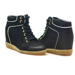 Sneakersy Carinii B3349-360-180-000-B14 Czarne/Złoto Nubuk