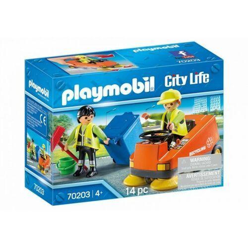 Klocki dla dzieci, Playmobil Zestaw z figurkami City Life 70203 Zamiatarka uliczna