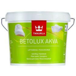 TIKKURILA BETOLUX AKVA- farba do drewnianych i betonowych podłóg, baza A, 2.7 l