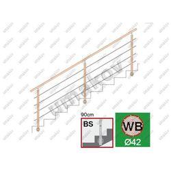 Drewno BUK (BEECH) bočné kotv. schodisko L=3000mm,