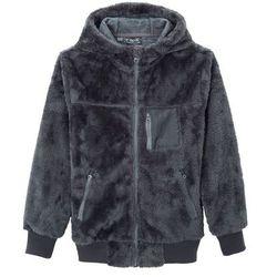 Bluza rozpinana z polaru bonprix dymny szary - jasny indygo