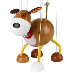 Drewniana marionetka, pies