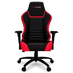 Fotel gamingowy GORGON czerwony PRO-GAMER dla graczy PODKŁADKA PRO-GAMER 80x45cm GRATIS