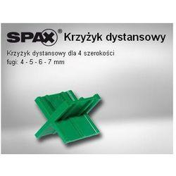 SPAX Krzyżyki dystansowe dla czterech szerokości fugi (12 szt.)