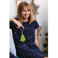 Sukienki dziecięce, Granatowa sukienka z cekinami 4K3910 Oferta ważna tylko do 2031-09-27