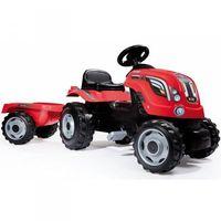Traktory dla dzieci, Traktor na pedały dla dziecka Smoby Farmer XL z przyczepą - Czerwony