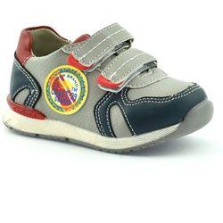 Dziecięce buty sportowe American Club 5318-03 - Szary ||Granatowy