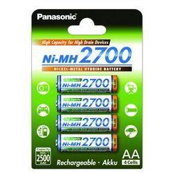 4 x Panasonic R6 AA Ni-MH 2700mAh (blister)
