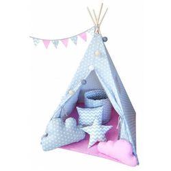 Dziecięcy namiot tipi z poduszkami 4 wzory - Somit