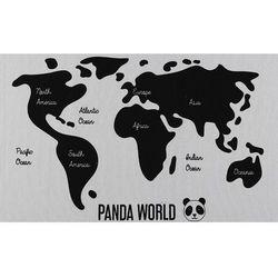 Dywan dziecięcy panda NAVIGO — 100% bawełny — 60 × 120 cm — biały i czarny