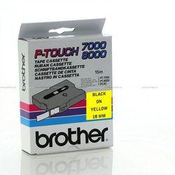 Brother taśma TX641 18mmx8m czarny nadruk żółte tło