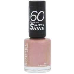 Rimmel London 60 Seconds Super Shine lakier do paznokci 8 ml dla kobiet 510 Euphoria