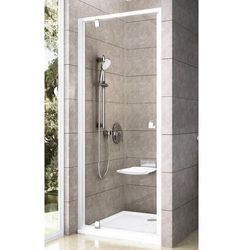 Ravak Pivot PDOP1 drzwi prysznicowe 80cm aluminium transparent Anticalc 03G40C00Z1
