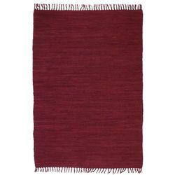 Ręcznie tkany dywanik Chindi, bawełna, 200x290 cm, burgundowy