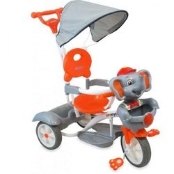 Rower trójkołowy UR-JG-870 słoń srebrny/ pakowany po 2 szt - Srebrny