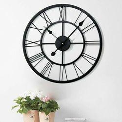 Duży metalowy zegar ścienny RETRO loft 80 cm