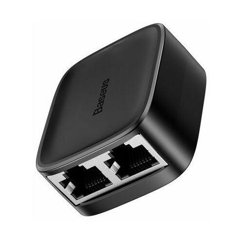 Rodzielacze sygnału, Rozdzielacz / splitter sieciowy Baseus High Speed, Gigabit Ethernet, RJ45, 100m (czarny)