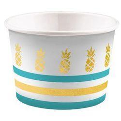 Pucharki kubeczki do lodów Ananasy - 270 ml - 8 szt.