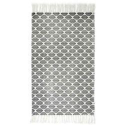 Dywanik bawełniany Zeste czarno-biały