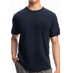 Męska koszulka do piżamy krótki rękaw Atlantic NMT 050 granatowa