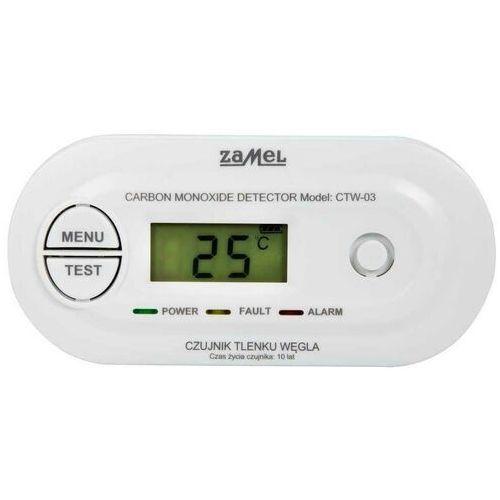 Czujki alarmowe, Zamel GARDI Czujnik tlenku węgla czadu bateryjny z wyświetlaczem CTW-03