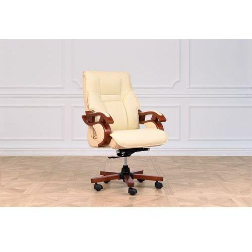Fotele i krzesła biurowe, Fotel skórzany MANAGER kremowy