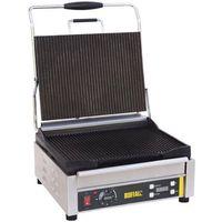 Grille gastronomiczne, Grill kontaktowy żeliwny pojedyńczy ryflowany | 360x280mm | 2200W
