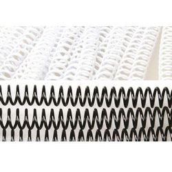 Grzbiety do bindowania spiralne, białe, 14 mm, 100 sztuk, oprawa do 110 kartek - Super Ceny - Rabaty - Autoryzowana dystrybucja - Szybka dostawa - Hurt