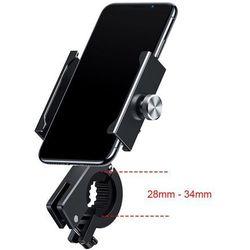 Baseus Knight metalowy uchwyt do telefonu na rower motor motocykl na kierownicę czarny (CRJBZ-01) - Czarny