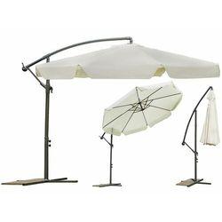 Parasol ogrodowy składany 8 segmentów beżowy Ø 350cm