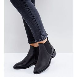 ASOS ABSOLUTE Leather Chelsea Ankle Boots - Black