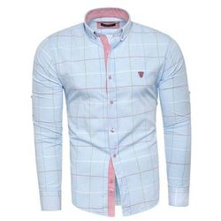 Koszula męska długi rękaw rl01 - niebieska