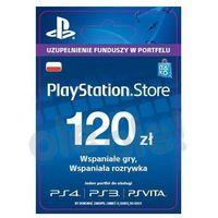 Klucze i karty przedpłacone, Sony PlayStation Network 120 zł [kod aktywacyjny]
