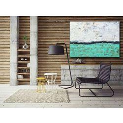 Obrazy do salonu ręcznie malowane. Turkus na obrazie. Obraz nowoczesny rabat 15%