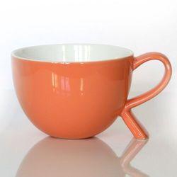Kubek/miseczka z nóżką koralowy – eleganckie naczynie na kawę herbatę przekąskę, wyjątkowy design