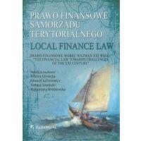 Politologia, Prawo finansowe samorządu terytorialnego/ Local fuinance law (opr. twarda)