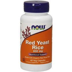 Czerwone drożdże ryżu Red Yeast Rice 600mg 60 kapsułek NOW FOODS
