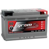 Akumulatory samochodowe, Akumulator GROM EFB START&STOP 80Ah 800A Prawy Plus DTR