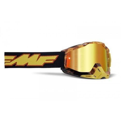 Gogle i okulary motocyklowe, Fmf gogle powerbomb spark szyba mirror red