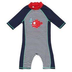 mothercare SWIM NAVY PIRANHA SUNSAFE BABY Kostium kąpielowy dark blue