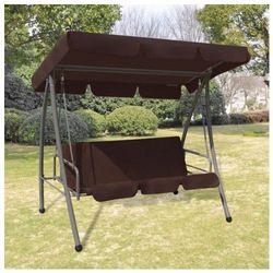 Huśtawka ogrodowa z baldachimem Swing kolor brązowy