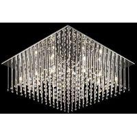 Lampy sufitowe, Plafon Italux Angel MX62703-12A oprawa lampa sufitowa 12x20W G4 chrom/kryształ