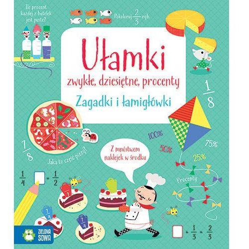 Książki dla dzieci, Ułamki zwykłe, dziesiętne i procenty, Zagadki i łamigłówki - Opracowanie zbiorowe (opr. miękka)