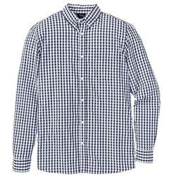 Koszula z długim rękawem Regular Fit bonprix ciemnoniebiesko-biały w kratę